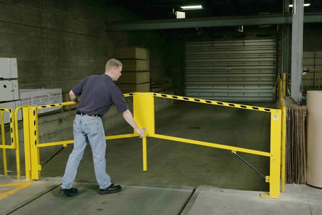 Loading Dock Safety Gates for Fall Protection